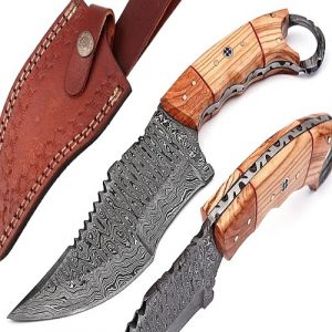 Handmade Damascus Knives & Handmade Knives for Sale with Damascus Steel Folding Knife Option