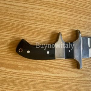 Custom Handmade Beautiful Bowie knife With Black Micarta Handle