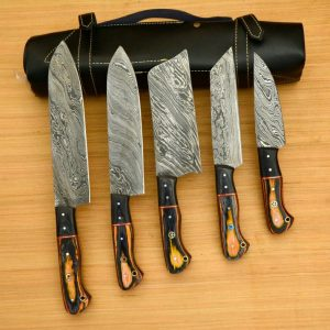 5 PC's Damascus Steel Kitchen Chef Utility Knife Set