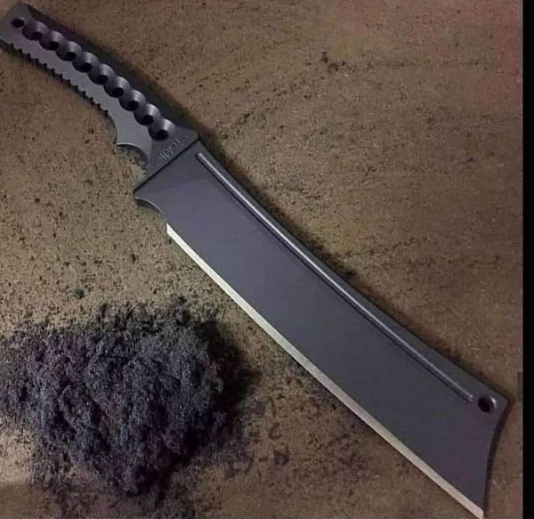 Beautiful Tanta Knife Black Courted Custom Handmade