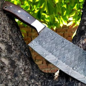 Handmade Damascus Steel Chef knife, Meat Cleaver, Butcher knife