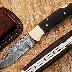 Hand Forged Pocket knife In Damascus