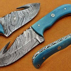 XMas Santa Present Damascus knife Best Gift For Christmas