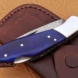 Customizable Genuine Damascus Steel knife Christmas Gifts