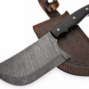Handmade Damascus Cleaver knife Kitchen Meat Cleaver