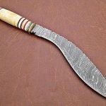 "Custom Handmade Damascus Knife 16"" Damascus Steel Hunting Kukri Knife"