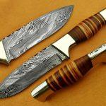 Custom Handmade Damascus Hunting knife Best Valentine Gift