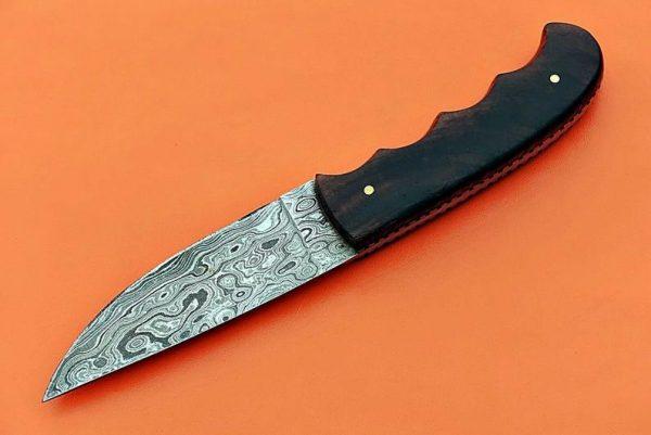 Custom handmade Damascus skinner knife