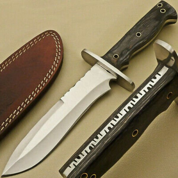 Beautiful D2 Steel Hunting knife With Leather Sheath