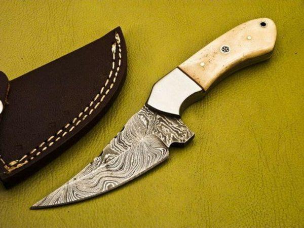 Camel Bone Handle Fixed Blade Hunting knife