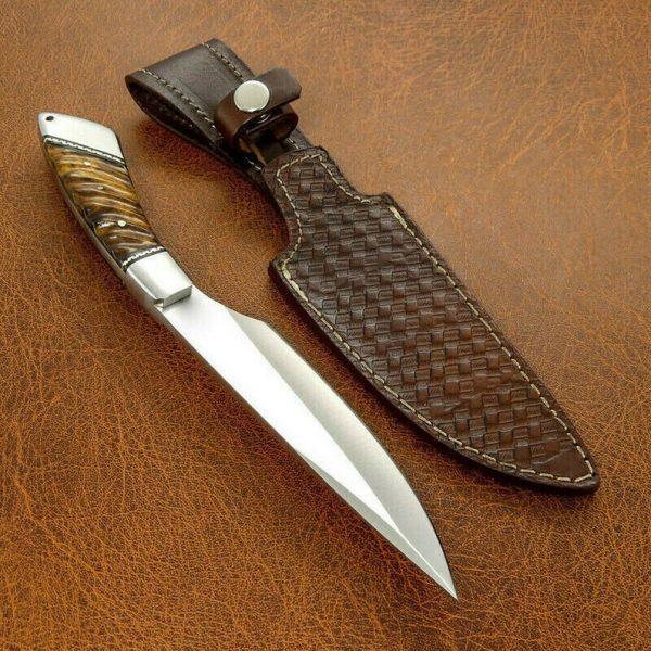 Custom Handmade D2 Steel Hunting Survival Bowie Knife